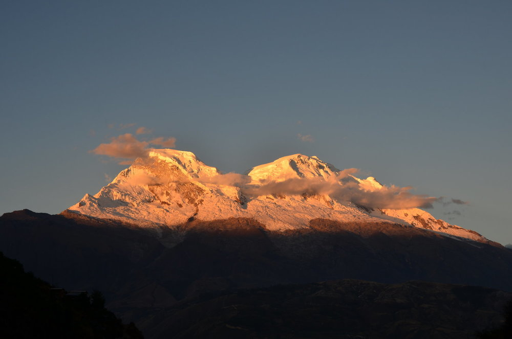 Sunset by Huascaran Mt, Cordillera Blanca Huaraz Peru