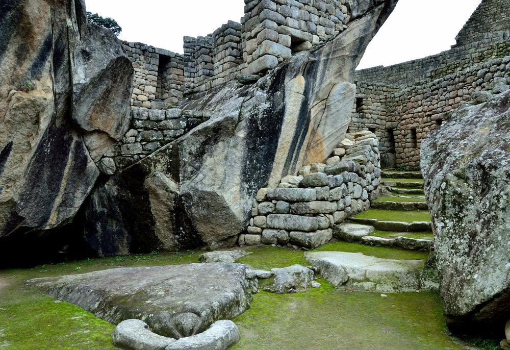 Condor Temple in Machu Picchu, Cusco
