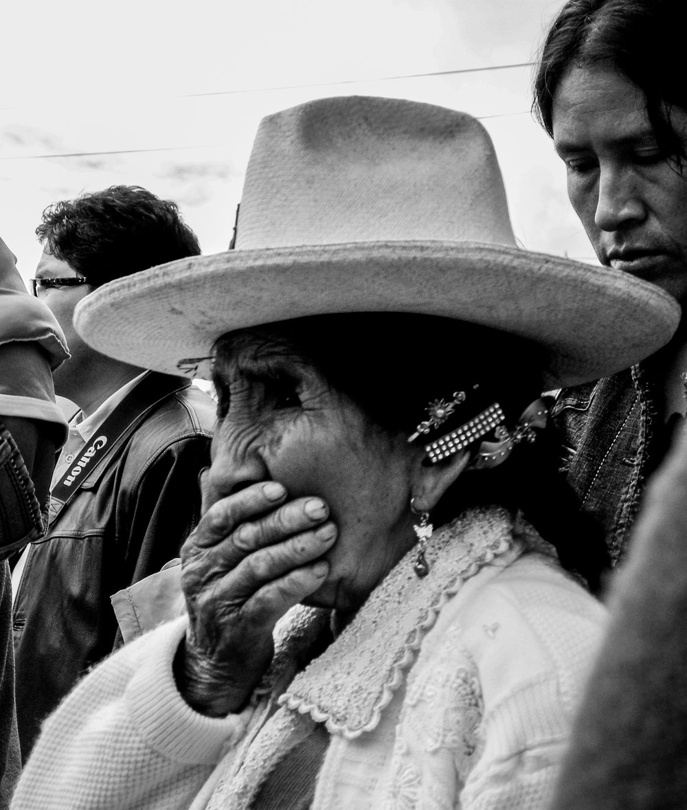 Devotion and emotion during procession, Central Andes.