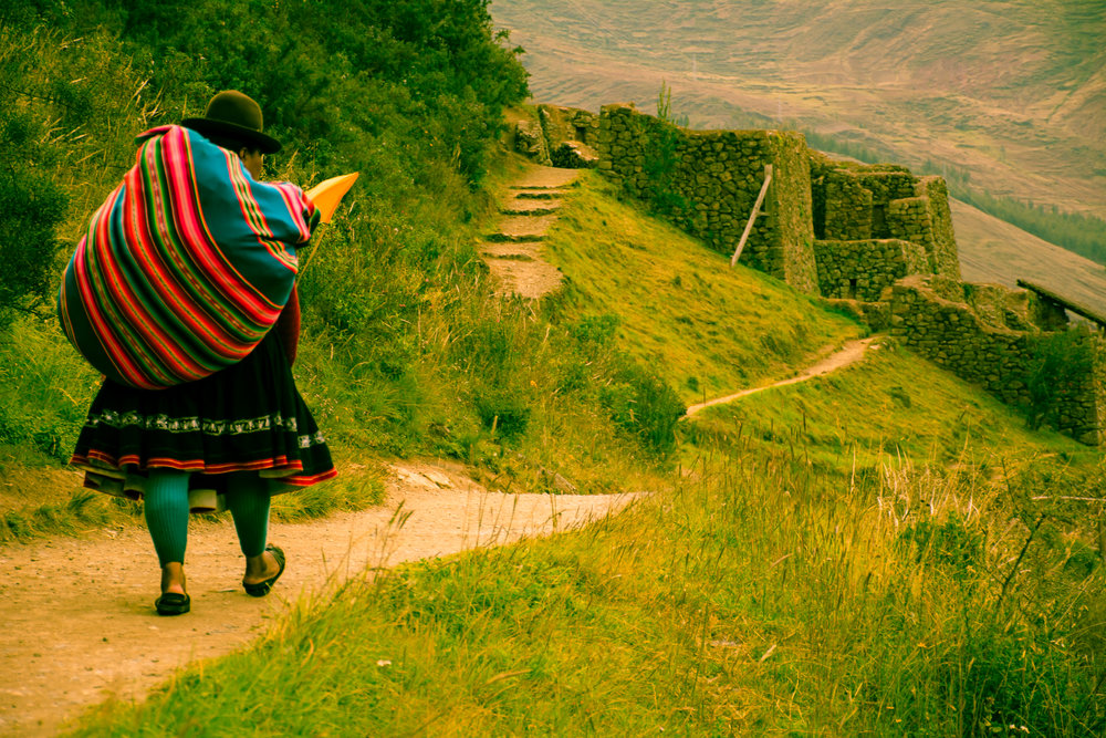 Another day in the Andes- Lady carrying about 2/3 of her body weight