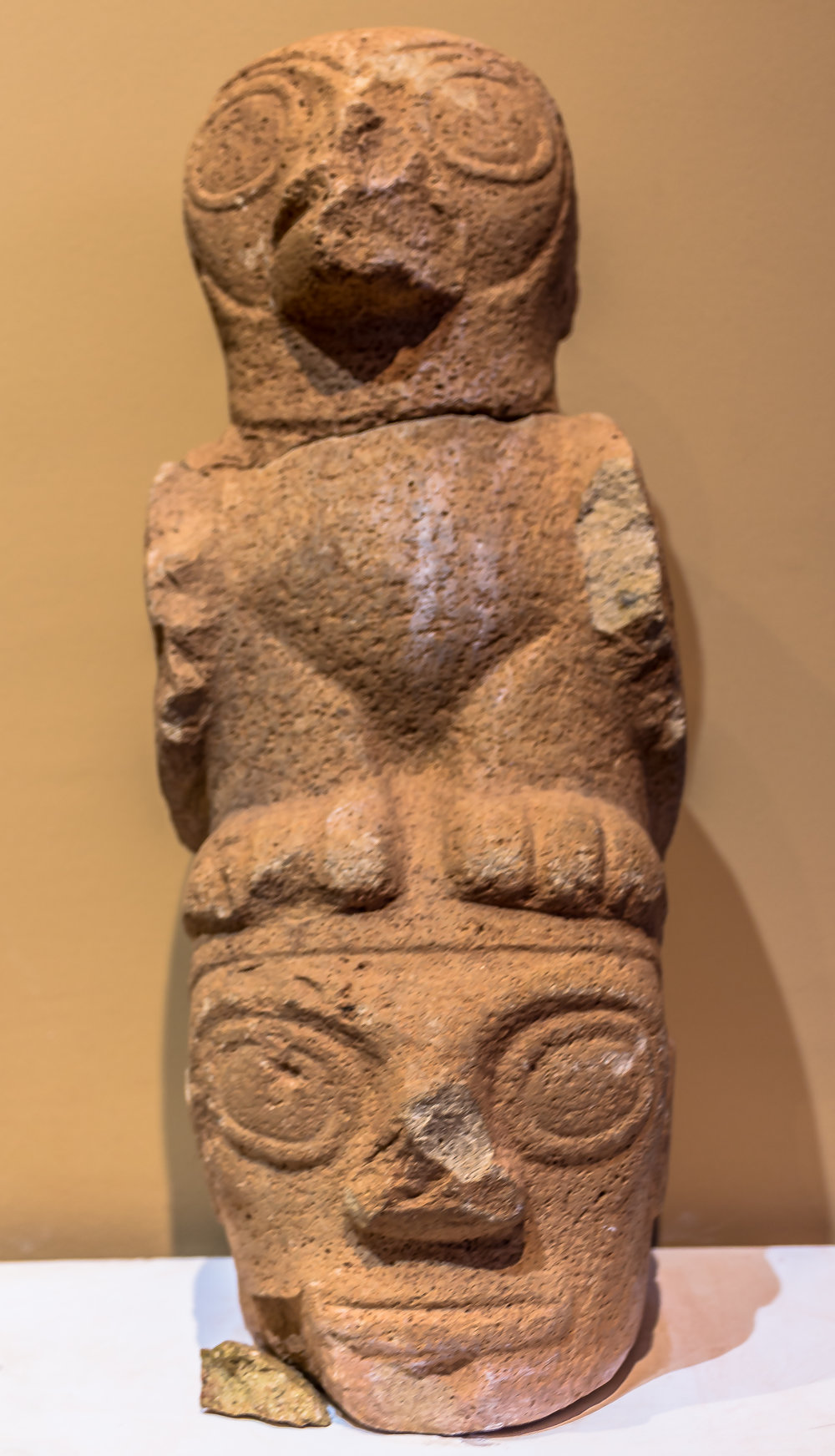 Anthropomorphic Pre - Inca ceramic, South America.