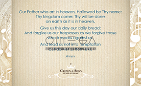 Prayer card back