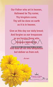 Spring Bouquet Prayer Card back