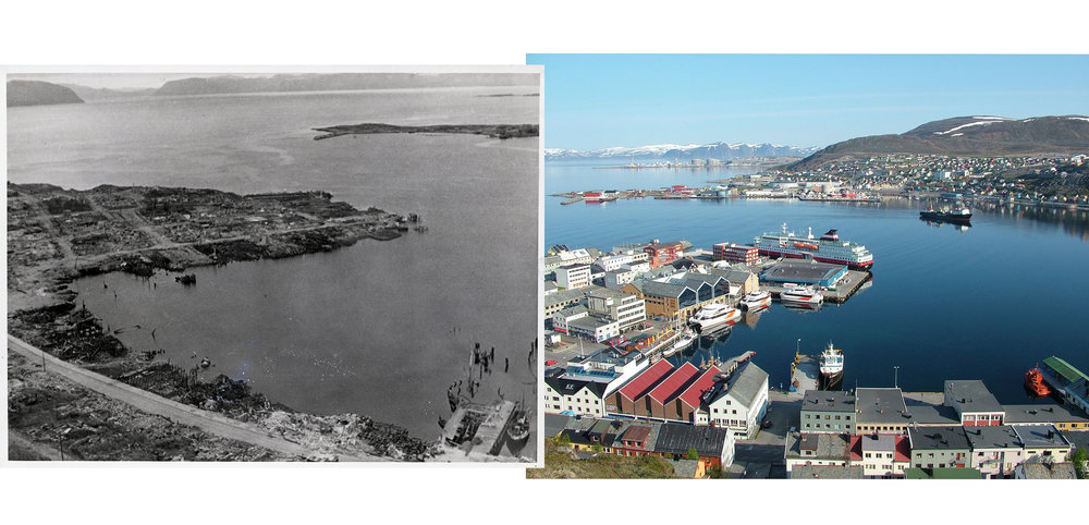 Hammerfest in 1945 and in 2005