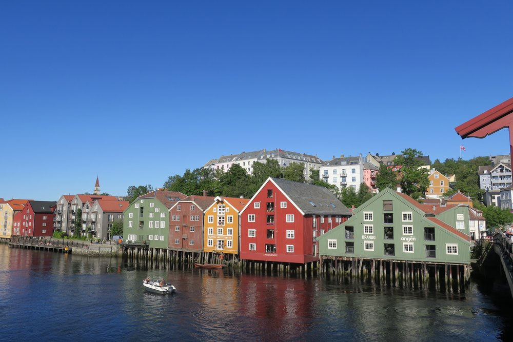 Old wharves (with Norwegian flag in upper right)