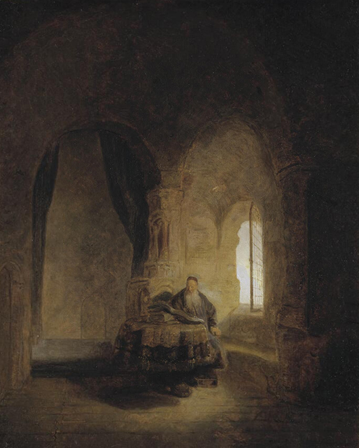 Rembrandt, Philosopher Reading (or The Philosopher Anastasius in his Monastery, 1631), Nationalmuseum, Stockholm