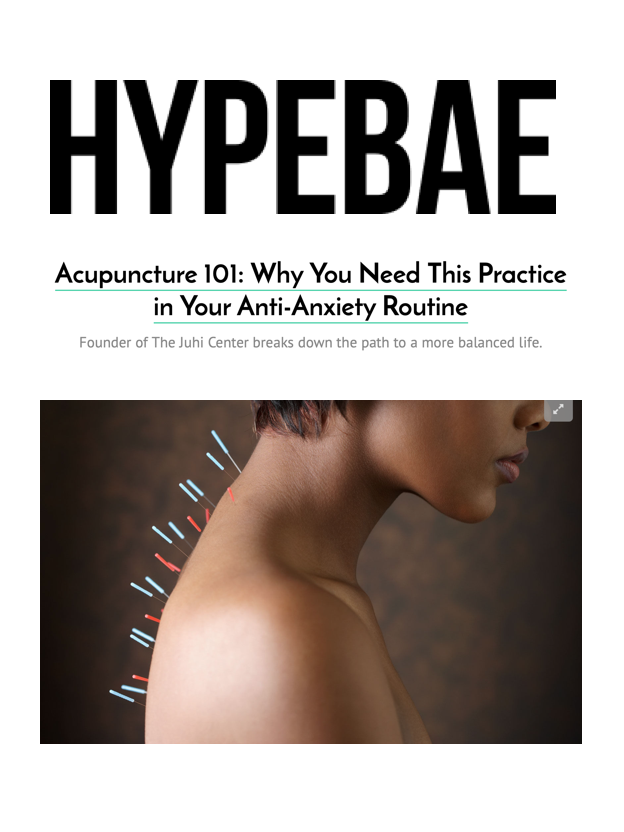 HYPEBAE   Often prescription medicines are used to manage anxiety but less-invasive forms of treatment like  acupuncture  have become more popular in recent times.