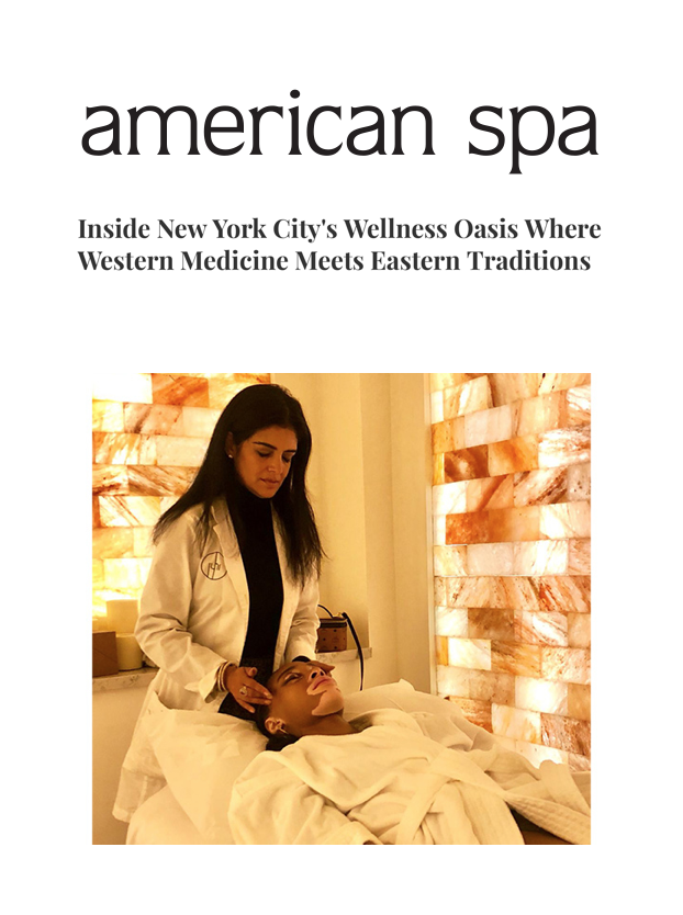 AMERICAN SPA   From the outside, passers-by might see just another storefront, but to clients, behind the tiny door lives a world of wellness and an escape to the hustle and bustle of city living.