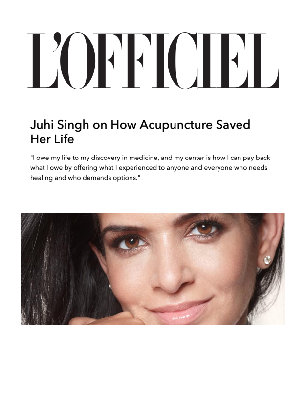 L'OFFICIEL   But in Asia, practitioners of alternative medicine have been utilizing Eastern healing techniques for centuries upon centuries, prioritizing holistic and natural approaches before resorting to the use of chemicals.