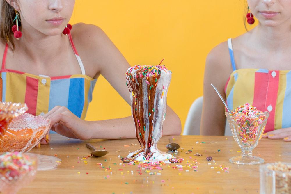 Yummy ice cream sundae!