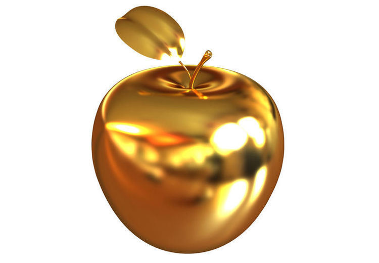 Golden apple - pretty, but not edible!