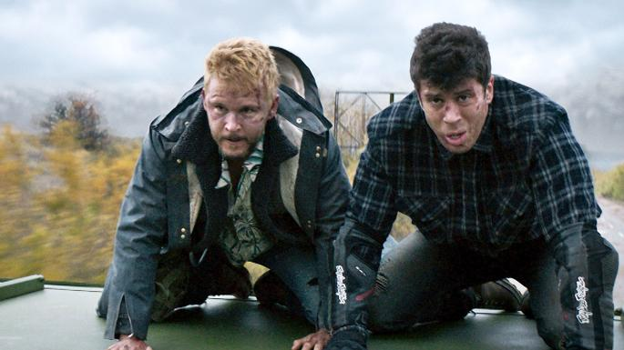 Ryan Kwanten  and  Toby Kebbell  play brothers who band together to stop the bad guys, even if they don't look related at all.
