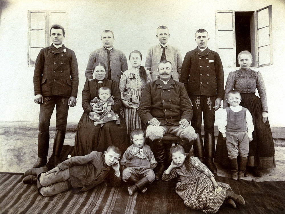 This isn't Dmitri's family, but a houseful of 11 children must have been a bit chaotic!