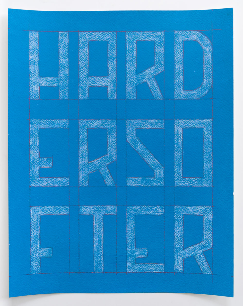 Harder Softer  Enamel, colored pencil, watercolor paper  11 x 14 inches  2017