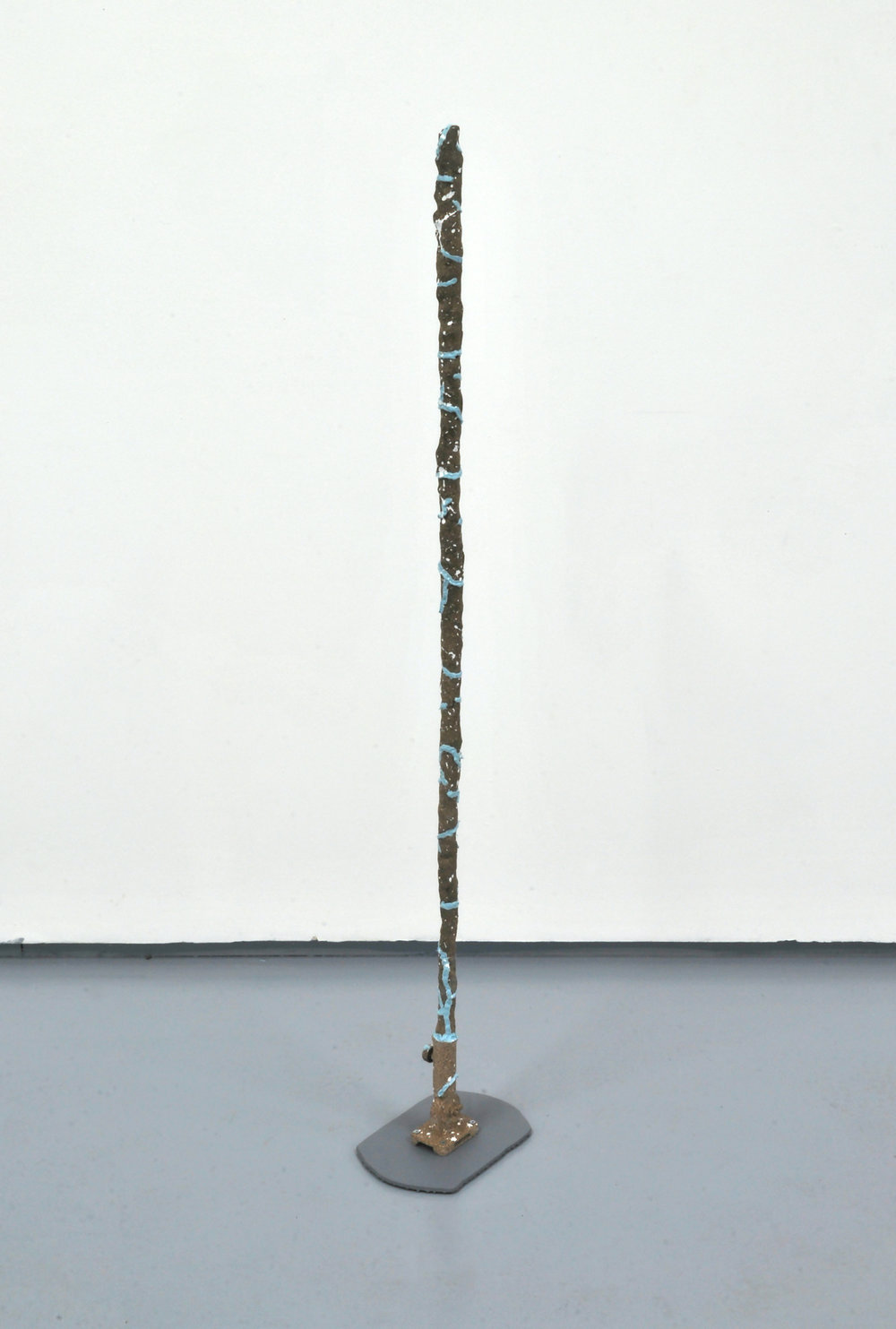 Pole (Quartz Marble Granite #2)  Acrylic, enamel, clay, wood, metal hardware, MDF  10 x 53 x 7 inches  2014