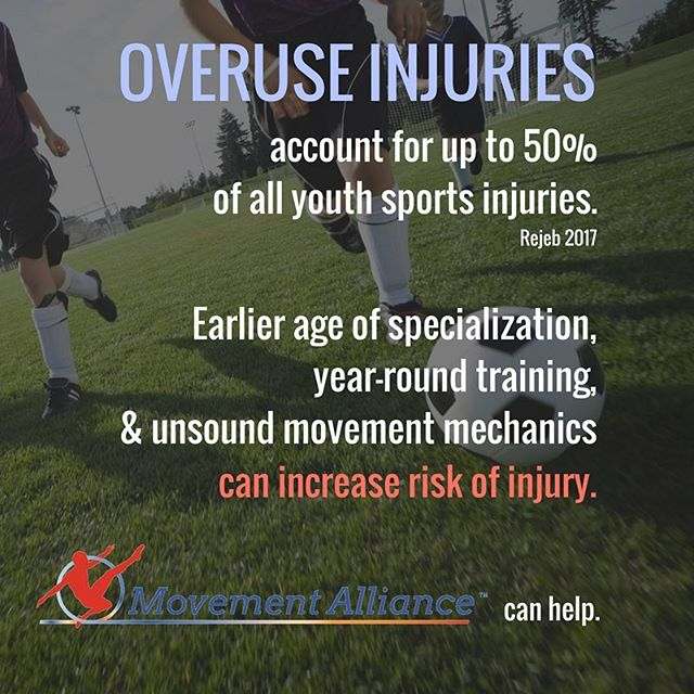 """#MovementAlliancePearl #1 🔮 — Is it wise to specialize? . Truth is, ONLY 49% of men and 55% of women at D1 level specialized by age of 12 years old. AND it has greatly increased risk of """"burnout"""" and overuse injuries. Diversification and well-rounded stimuli allows a child's body to adapt and increase the likelihood of becoming a versatile elite athlete. . . How can we prevent youth injuries? Through targeted, evidence-based intervention, Movement Alliance: . . 1️⃣Provides information pertaining to proper training schedules for the youth athlete that include both appropriate volume and rest periods. Including a basic understanding of the healing process in youth athletes. . . 2️⃣Provides examples of healthy diverse activities/movements, outside and within the range of a given sport, in order to ensure symmetrical, well rounded musculoskeletal and neurological development. . . 3️⃣Educates coaches to understand the required movement demands of their particular sport, and empowers them with the knowledge of how unsound biomechanics can lead to sport-specific injuries. Movement Alliance encourages a proactive approach for coaches in the management of those they serve from an evidence-based movement science perspective. . . ➡️All contributing to maximized performance and prevention of injury. . . For more information, see comment for references. Visit our website if you are interested in a consultation, or wish to volunteer. (See bio for link)."""