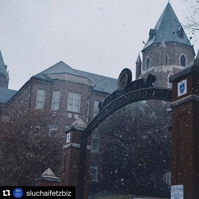First snow of the year at SLU