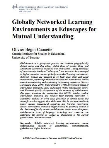 Begin-Cauouette, Global Networked Learning Environments as eduscapes.jpg