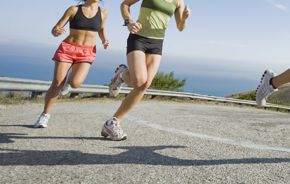 precor_lifestyle image for authorized dealers_three women running on road.jpg