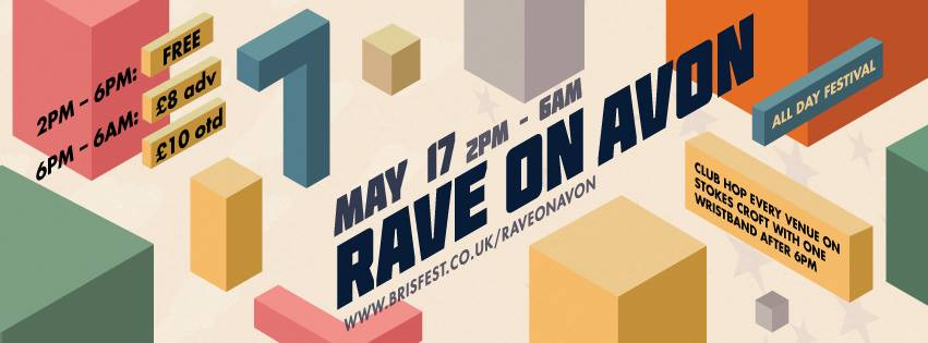 Once again Rave on Avon is all set to kick off your Summer with the Stokes Croft Takeover 2014. A free day of music and partying unites all the best venues, bars and clubs in the Stokes Croft area for a celebration of the best of the city's music culture. Then, from 6pm one wristband will get to into all the participat  ing venues; including Blue Mountain, Lakota, 51 Stokes Croft, Coroners Court and The Love Inn.  FREE before 6pm, afterwards its £8 in advance from the www.brisfest.co.uk , Idle Hands, Bristol Ticket Shop and  www.lakota.co.uk , £10 on the day.  Full line­up to be announced soon through this site.  All proceeds from this event will go directly towards the Bristol Festival Community Group's (registered charity 1124722) work with training local people and ensuring Brisfest, Bristol's not-for-profit showcase of the best local talent, returns to your events calendar in 2015! Giving local music the stage to shine!