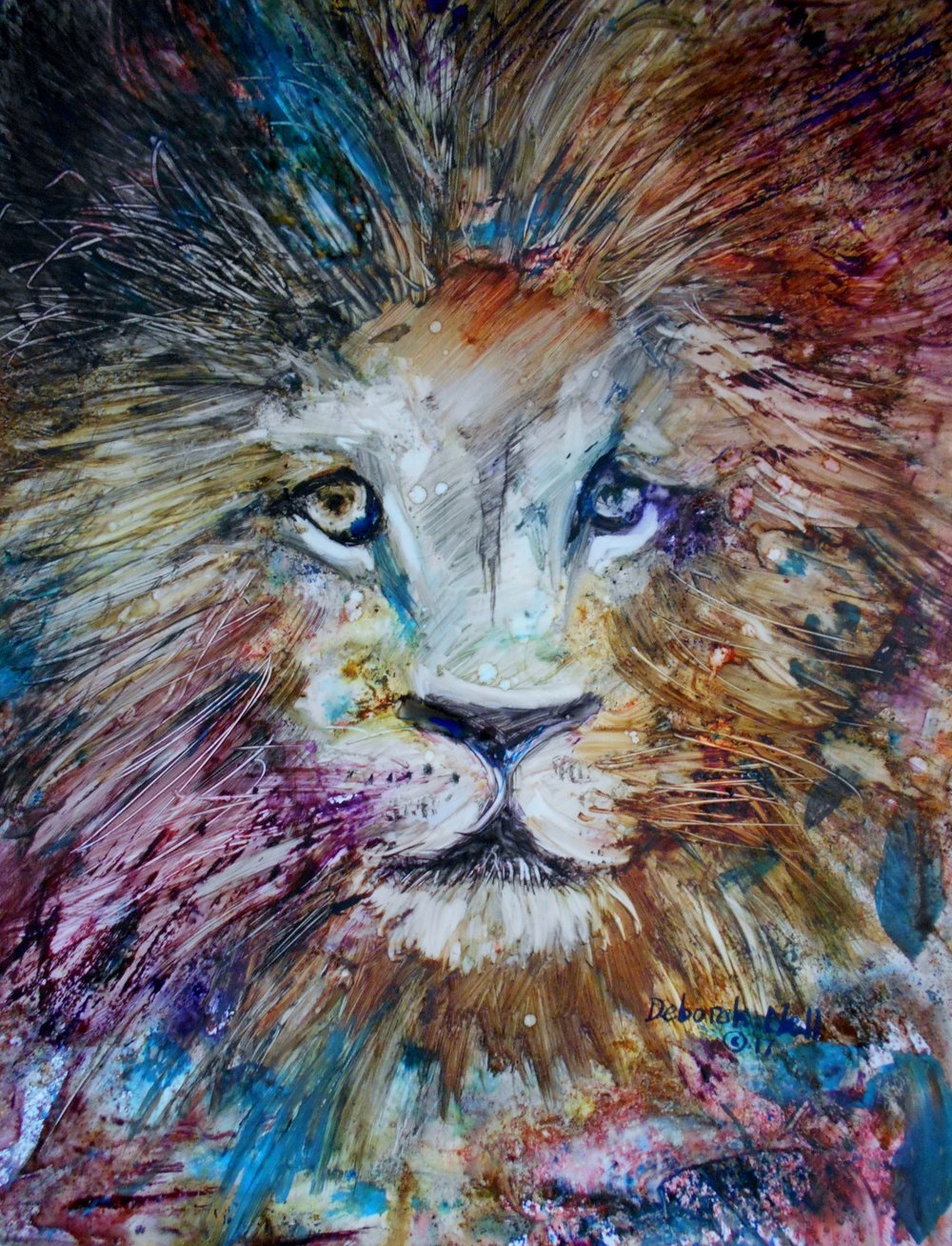 The Lion - My finished painting of the lion I saw in the vision.