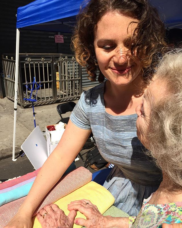 yesterday with the sweetest flory jagoda at the #greekjewishfestival ...there are other posed photos but this one better shows the sweetness and warmth of our brief time together.