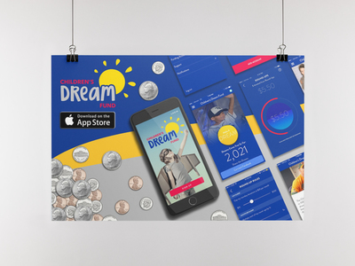 app graphic with coins flyers or graphic harness