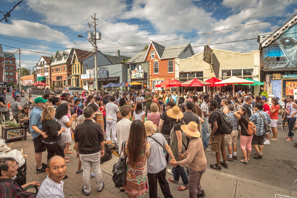 Pedestrian Sundays at Kensington Market   Beginning May 27th, last Sunday of each month until October 28th, 12-7pm   From May until October, Kensington Market is transformed into a pedestrian haven on the last Sunday of each month.  The trendy neighbourhood attracts thousands of visitors, as various artists, musicians, food vendors, and artisan markets take to the streets.