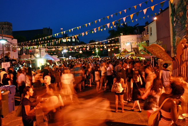 Stop Night Market   June 12-13th, 7-10 pm, 181 Sterling Rd   Inspired by the many wonderful night markets from across the globe, this market brings together various culinary vendors, alongside performances and artists.  It is a fundraiser that works to support 'The Stop Community Food Centre.' This is a  nonprofit organization that provides food services in the city.