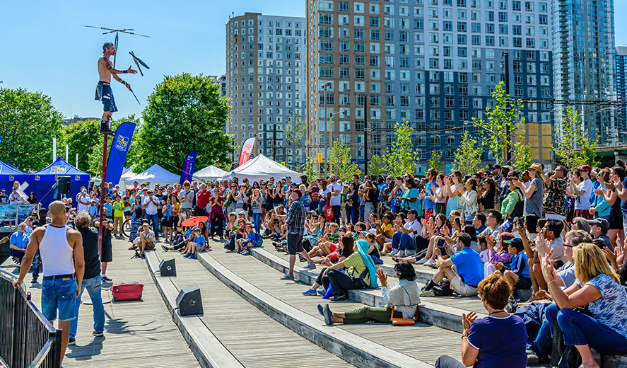 Waterfront Artisan Market   May 19 to October 7, 2018, Saturdays 11am to 8pm, Sundays 11am to 5pm.     339 Queens Quay West    From May until October, the popular Waterfront Center becomes a hub of entertainment every weekend! Local vendors selling artisanal goods, including, artwork, home decor, culinary goods, and fresh baked goods, are teeming in this already popular and pedestrian friendly area.  The area has an average 10,000 per day on the weekends, this market is sure to be bustling!