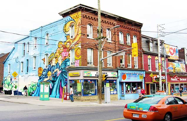 - Lifestyle & RecreationResidents love their local cafes, bars, and shops, of which there are plenty in Cabbagetown. For those who like to shop for unique finds, Parliament Street features the 'Old Cabbagetown' shopping district with all sorts of charming shops and plenty of restaurants. There is also the smaller-scale shopping district along Carlton Street to take advantage of.Locals can also shop in smaller shopping pockets along Wellesley Avenue, Gerrard Street, and Sherbourne Street. Each September, the Cabbagetown Fall Festival takes place and features a parade, mini marathon, yard sale, and historical walks.Despite being in the centre of the city, Cabbagetown offers a little taste of the country thanks to Riverdale Farm, where residents can hang out with all sorts of livestock, including cows, chickens, and piglets. The farm's gift shop provides baked goodies for visitors to enjoy. The local park is often the scene of residents playing their favourite sport, letting their dogs roam free to make friends, or participating in an outdoor fitness group. Over the bridge from the park is a running track and espresso bars.
