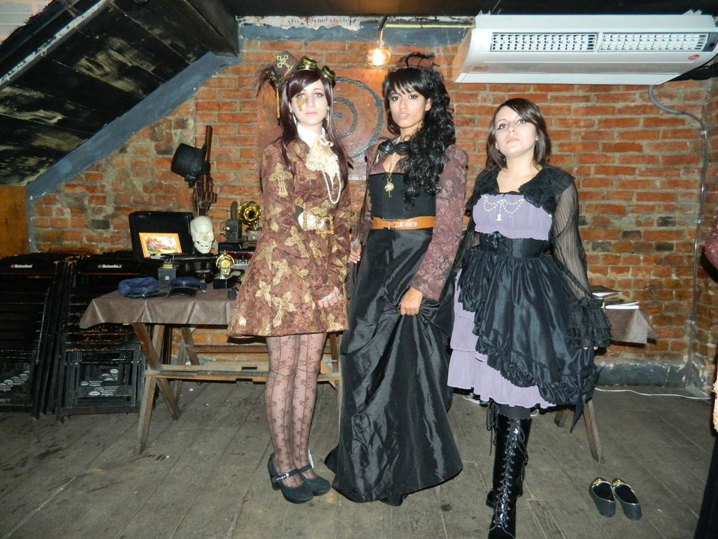 Participants of a Brazilian Steampunk Event