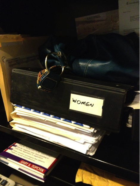 People started photographing made-up binders in their places of work and posting them online.