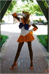 Sailor Venus of the Sailor Moon transmedia property.