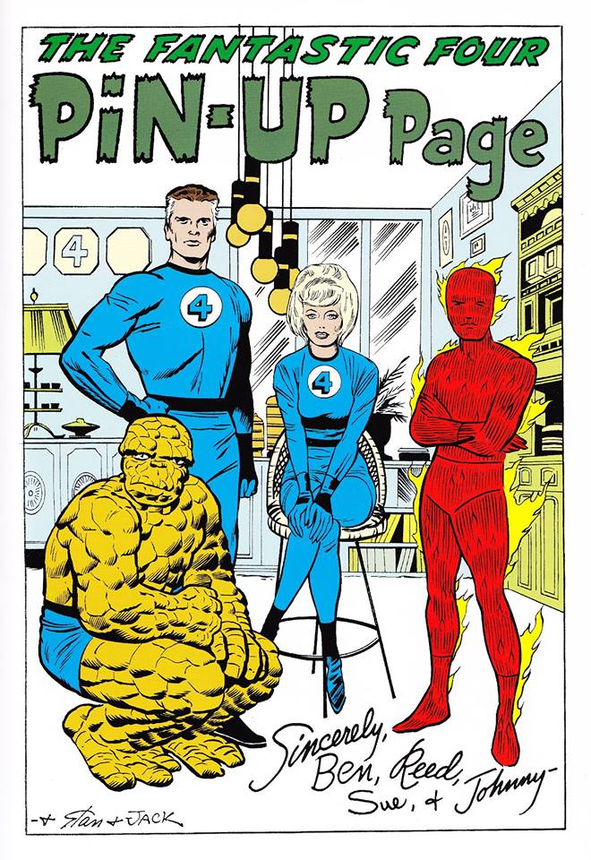 Fantastic Four Pin-Up for Book Talk