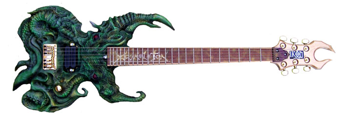 Cthulu-inspired guitar