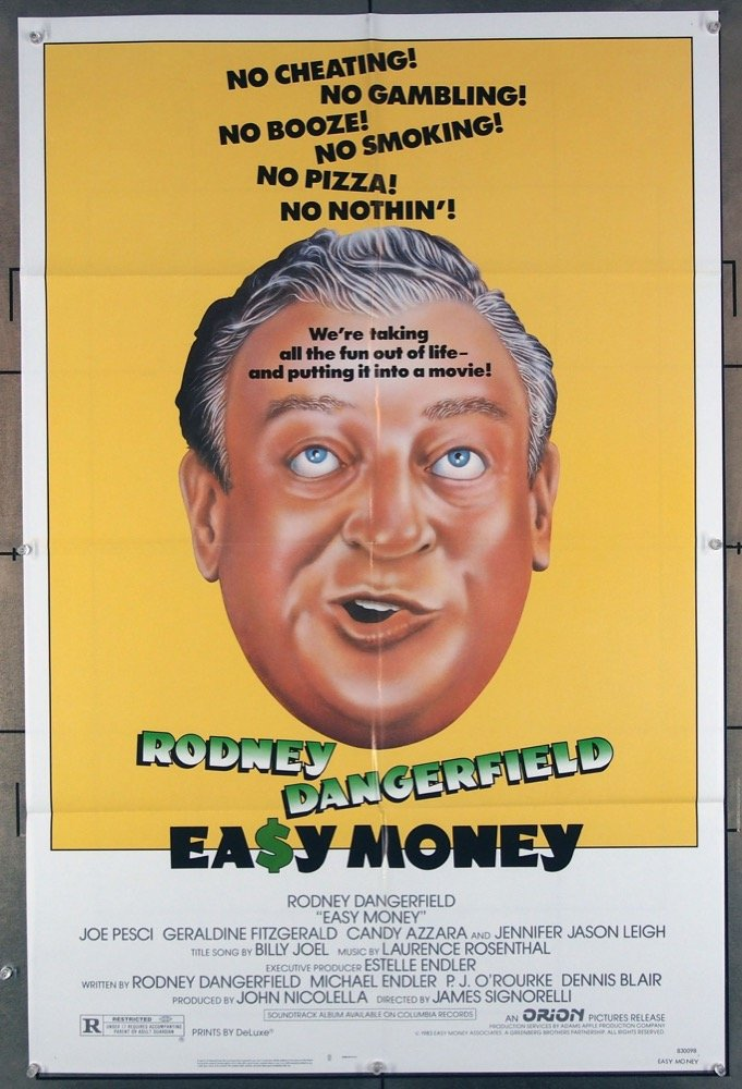 Day 4: Easy Money  - Now, this one wasn't exactly a great film, but after watching The Killing of a Sacred Deer, we needed something lighthearted and that's what we got with the hilarious Rodney Dangerfield!