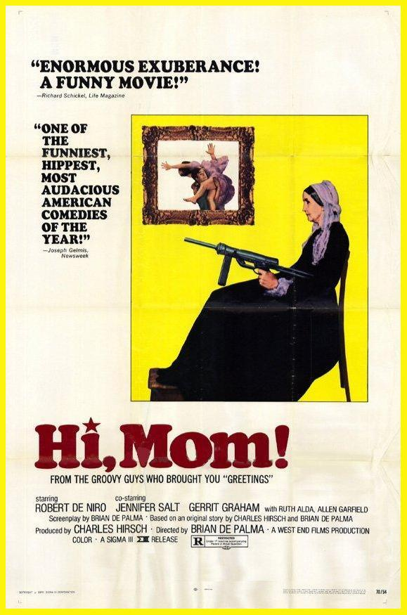 Day 14: Hi, Mom!  - Yet another De Palma film (maybe we'll switch it up next week, maybe we won't). Hi, Mom! is an incredibly fast paced and exciting film that still has me at a loss when I try to think of what it's about. Let's just say it's like watching young De Niro in a Godard film.