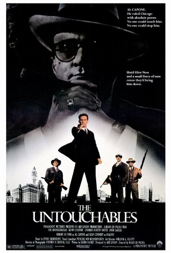 Day 19: The Untouchables  -  The Untouchables  stars Kevin Costner as a cop who leads a group of 'Untouchables' in their attempt to take down Al Capone (Robert DeNiro) once and for all. You guessed it, directed by Brian De Palma.