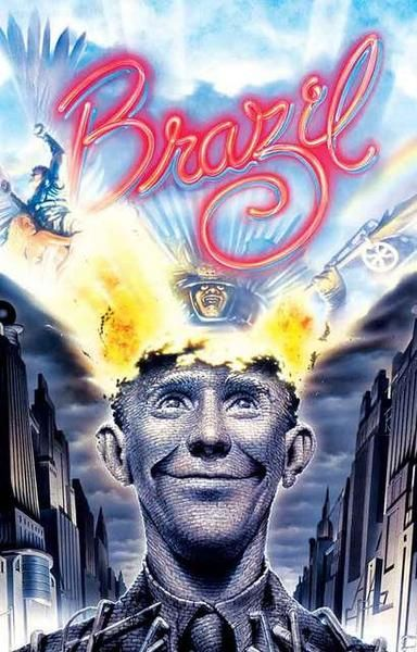 Day 20: Brazil  - Terry Gilliam's  Brazil  is a fantastically surreal story about a government worker who must deal with mistaken identity and other mishaps as he attempts to simply escape the monotony of his boring, everyday life in a futuristic society.