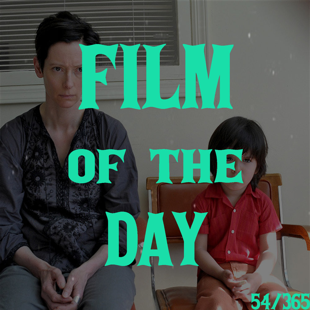 We Need to Talk About Kevin (2011)     (dir. Lynne Ramsay)   Lynne Ramsay's  We Need to Talk About Kevin  is an incredibly powerful character study of a mother who battles both inner and outer demons in the wake of the horrific tragedy her son has committed. Tilda Swinton stars as a has-been world traveler, Eva, now making ends meet by working in a travel agency. Ramsay chooses to tell the story in a non-linear structure that flashes both forward and backward in time while also dipping in and out of Tilda Swinton's realities. Ramsay's choice to tell this story in an unconventional manner serves to show the endless friction between Eva and her son Kevin, who's been giving her loads of shit, practically since the day he was born. The structure also serves to build endless layers of suspense that don't release until the dramatic climax centered on her sociopathic son.    4.5/5
