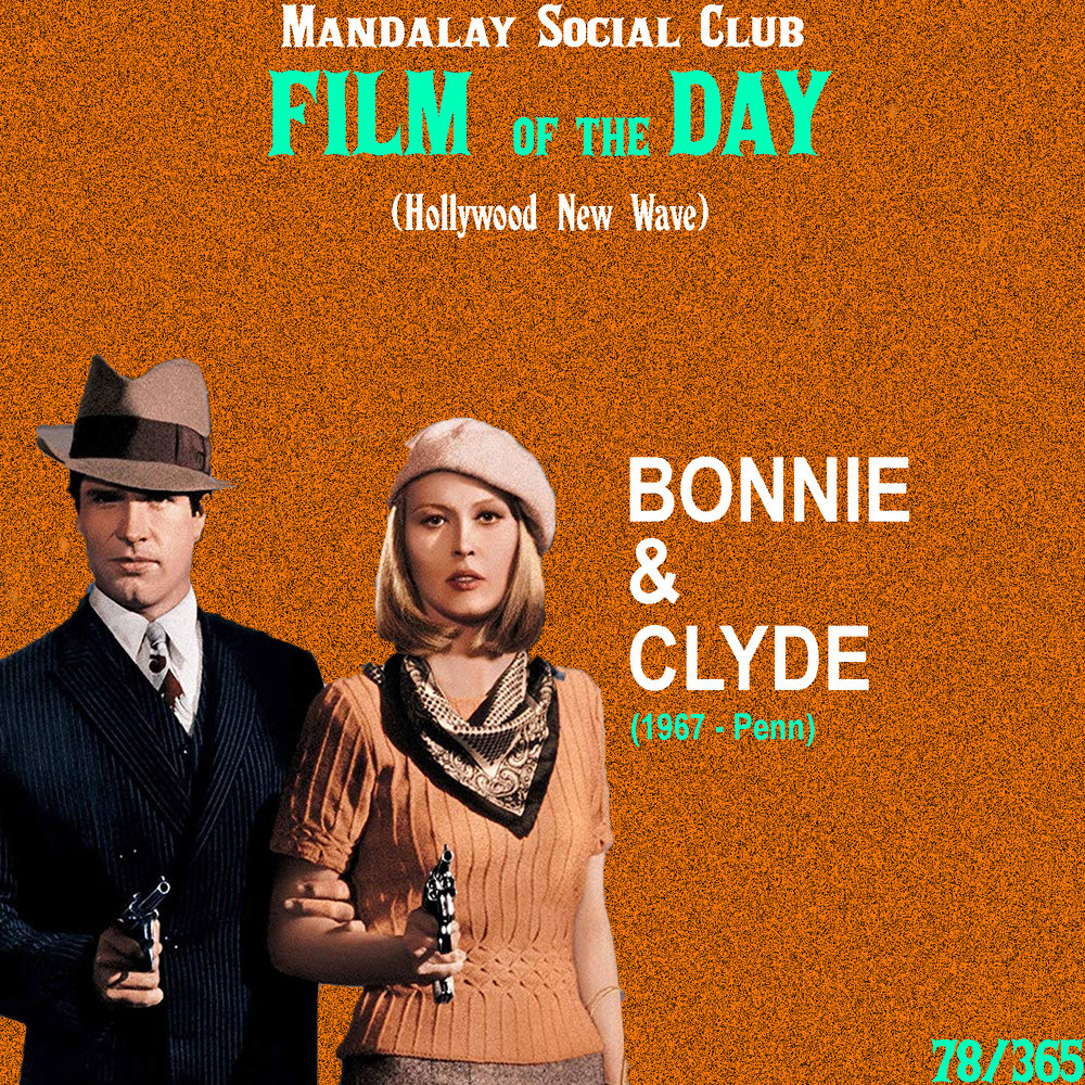 Bonnie & Clyde     (dir. Arthur Penn)    Bonnie & Clyde  is seen as the film that changed it all for Hollywood and helped usher in the New Hollywood wave…  This story about love-struck bank robbers resonated with audiences more than anyone could have possibly imagined. Warren Beatty and Faye Dunaway star in the leading roles and what they were able to successfully do was introduce a mixture of violence, sex, and humor that had never been seen in Hollywood films before.   Bonnie & Clyde  changed the way audiences viewed films. For the first time, audiences were cheering for the outlaws while going against the police officers and sheriffs. This film is much more than just a violent picture about bank robbers, it's a film about violence against the establishment. It was the first film, along with  The Graduate , that young movie-goers identified as 'theirs.'  Bonnie and Clyde never had much luck during their robbery attempts, but what they did succeed in was defying the socially constructed norms of American society. The hatred and frustration felt towards the government in the 60's was perfectly personified in the characters of  Bonnie & Clyde  as they fight back against all authority, leading up to one of the most unforgettable climaxes in film history.    5/5     WATCH: iTunes