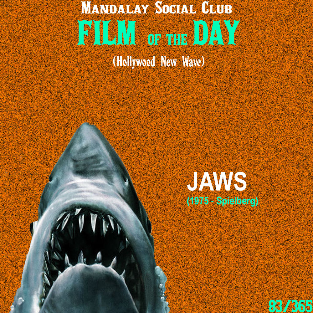 Jaws     (dir. Steven Spielberg)   Possibly one of the biggest films to come out of the New Hollywood movement,  Jaws  shocked audiences around the world and was key in showing that these new, young filmmakers were up to something.  Steven Spielberg's third film stars Roy Scheider as a police officer on Amity Island that must deal with both a killer shark on the loose and a greedy mayor who wants to keep the beaches open despite the shark attacks.   Jaws  took the B-movie formula that Roger Corman made famous and amplified it with a studio budget. After all,  Jaws  is nothing more than a big budget Corman film.  Jaws  changed the way audiences reacted to films and it launched a young Steven Spielberg to the top of most-respected new directors in Hollywood. 45 years later and the thrills are still there!    5/5     WATCH: iTunes