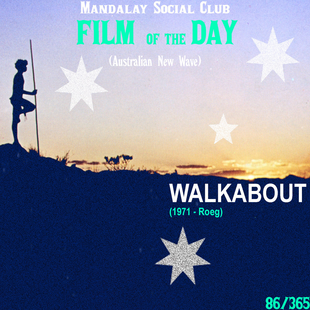 Walkabout     (dir. Nicolas Roeg)   One of the biggest aspects of the Australian New Wave came with the filmmakers ability to portray Australian culture without having to worry about censoring themselves. Where  Wake in Fright  showed the honest brutality of Australian culture,  Walkabout  shows how deeply rooted and beautiful their culture is.   Walkabout  is about two young English siblings who are taken out into the outback with their father for a picnic. All is well until the father goes crazy and burns down their car and shoots himself in the head, leaving the two young siblings to survive in the exhausting Australian outback by themselves. As the two venture through the vast Australian outback, they come across a young aboriginal boy, played by Gulpilil, on a walkabout. Seeing as how this young boy is their only source of safety, they entrust their lives to him as he shows them how to live off the land.  Nicoals Roeg's direction in  Walkabout  is unmatched as he gracefully contrasts life as an aborigine with life as a city dweller. By far one of the most important films about the Australian culture to ever come out,  Walkabout  still holds up and forces you to re-evaluate your perspective on life.    5/5     WATCH: iTunes