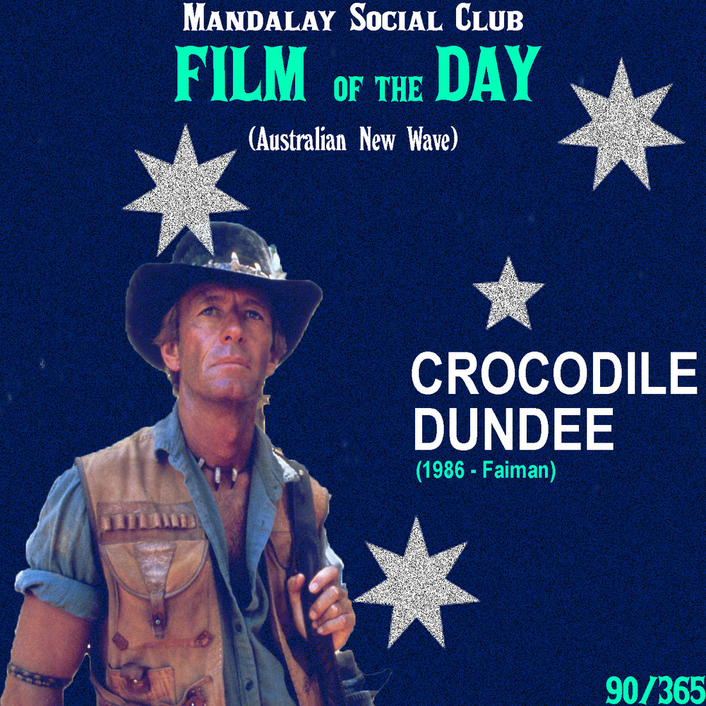 Crocodile Dundee     (dir. Peter Faiman)    Crocodile Dundee  isn't much of an artistic statement or contribution to the world of cinema, but it is perhaps one of the biggest films to come out of Australia. This classic 80's comedy stars Paul Hogan as a croc-poaching Aussie who finds himself struggling to adjust to life in New York City!  Crocodile Dundee  was deliberately made in attempt to create an Australian-produced film that would appeal to American audiences, but little did they know that it would turn into such a world-wide phenomenon.   Crocodile Dundee  went on to be the highest grossing film of all time in Australia and was actually the second highest grossing film in the US in 1986! Hogan's character gave the mass population an Australian figure they could attach themselves to, even if many might have found him to be an embarrassing portrayal of Australia. Nonetheless, it showed that Australia is just as much a force to be reckoned with as any other country producing films! In fact, it's become such a prominent product of Australian cinema, that to this day, it continues to be rebooted.    3/5     WATCH: iTunes