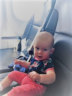 River's first plane ride!
