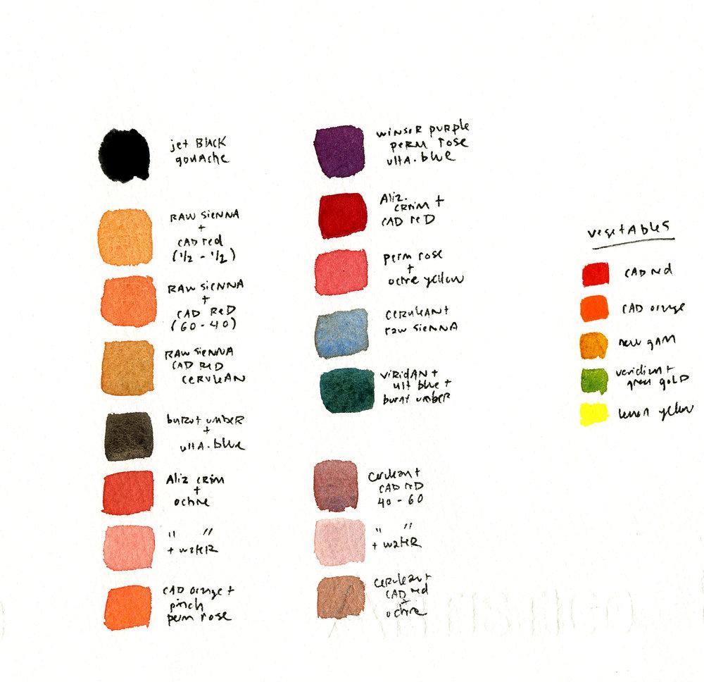 color palette for illustration