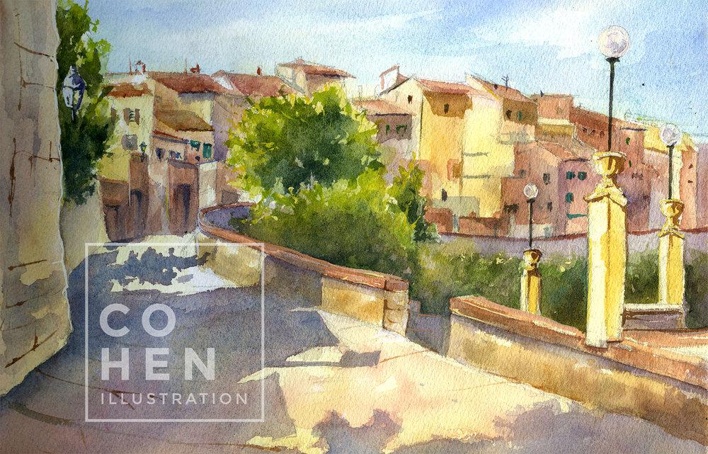 cohenillustration-tuscany-watercolor
