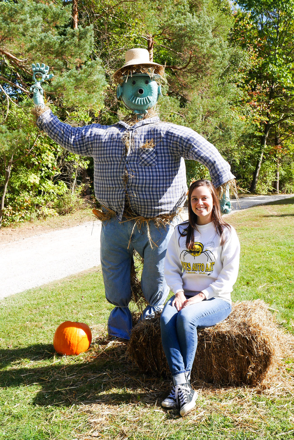 Automan dressed up as a Scarecrow