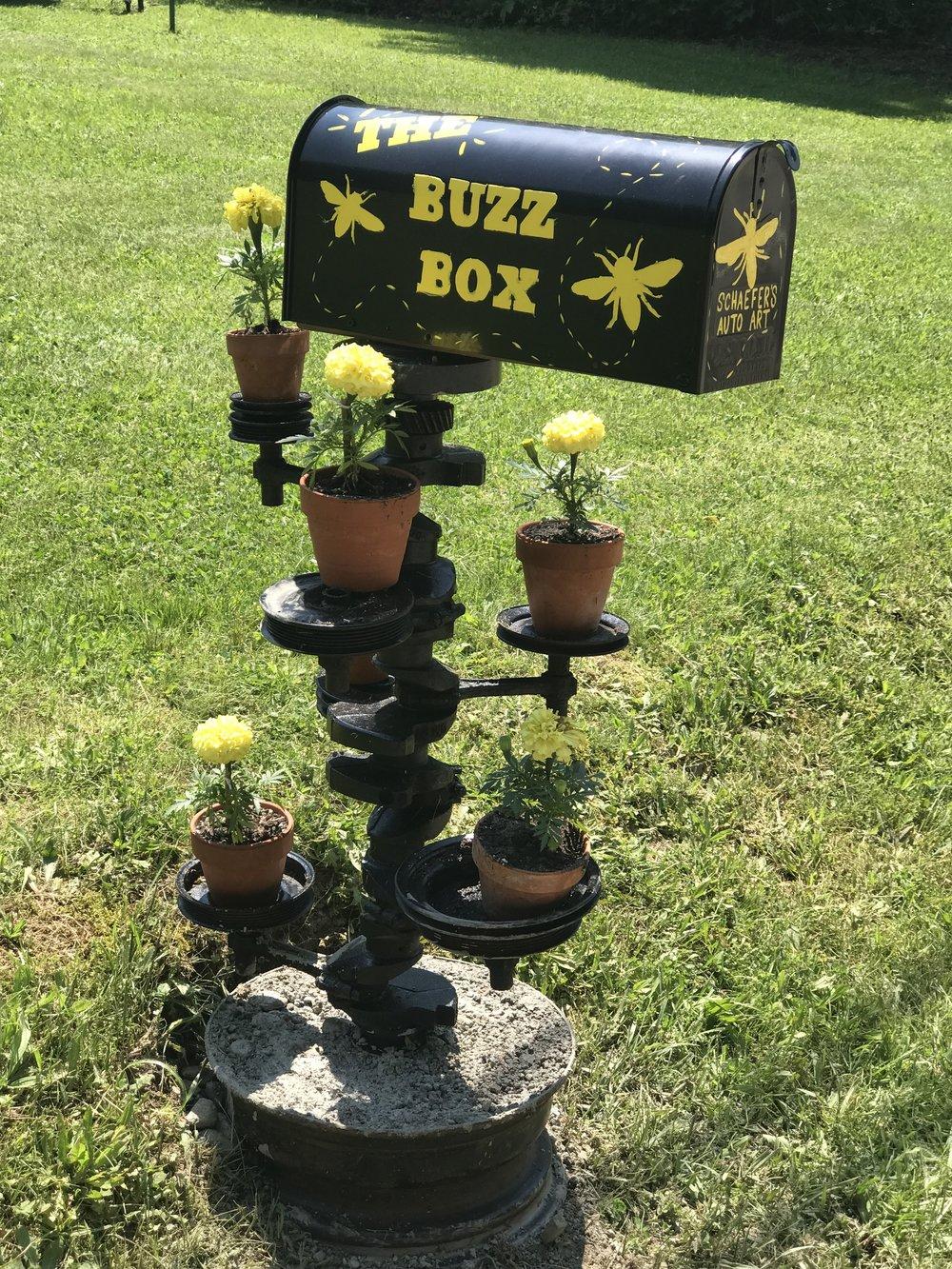 Final setup for The Buzz Box at Schaefer's Auto Art.JPG